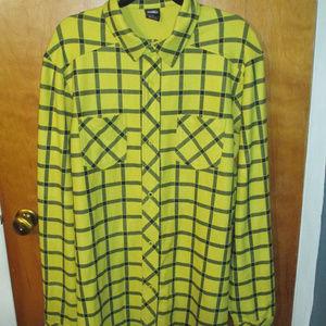 Nike 6.0 SAMPLE Square Pattern Yellow L/S Shirt L